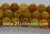 CAA1041 15.5 inches 6mm round dragon veins agate beads wholesale