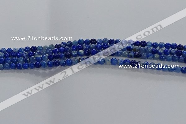 CAA1060 15.5 inches 4mm round dragon veins agate beads wholesale