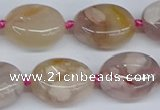 CAA1120 15.5 inches 15*20mm nuggets sakura agate gemstone beads