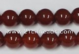 CAA113 15.5 inches 12mm round red agate gemstone beads wholesale