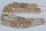 CAA1131 15.5 inches 30*40mm rectangle sakura agate gemstone beads