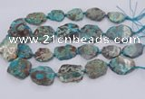 CAA1160 15.5 inches 20*25mm - 35*45mm freeform ocean agate beads