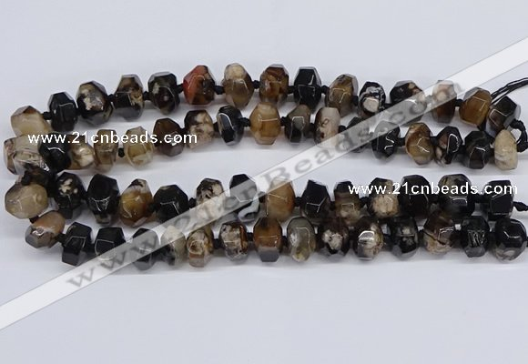 CAA1196 15.5 inches 10*14mm - 12*16mm faceted nuggets sakura agate beads