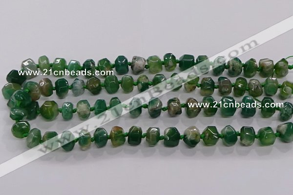 CAA1207 15.5 inches 8*12mm - 10*14mm faceted nuggets sakura agate beads