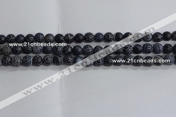 CAA1211 15.5 inches 8mm round frosted agate beads wholesale