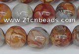 CAA1224 15.5 inches 12mm round gold mountain agate beads