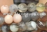 CAA1250 15.5 inches 4mm round Botswana agate beads wholesale