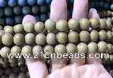 CAA1336 15.5 inches 12mm round matte plated druzy agate beads