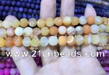 CAA1404 15.5 inches 8mm round matte druzy agate beads