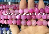 CAA1437 15.5 inches 12mm round matte druzy agate beads