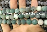 CAA1454 15.5 inches 14mm round matte druzy agate beads