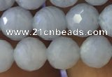 CAA1460 15.5 inches 6mm faceted round blue lace agate beads