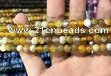 CAA1549 15.5 inches 6mm round banded agate beads wholesale