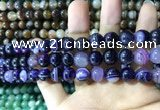 CAA1556 15.5 inches 8mm round banded agate beads wholesale