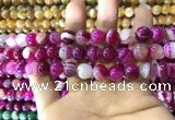 CAA1563 15.5 inches 10mm round banded agate beads wholesale