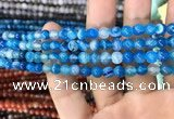 CAA1573 15.5 inches 6mm round banded agate beads wholesale