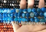 CAA1575 15.5 inches 10mm round banded agate beads wholesale