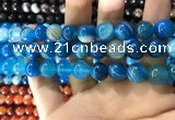 CAA1576 15.5 inches 12mm round banded agate beads wholesale