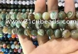 CAA1588 15.5 inches 12mm round banded agate beads wholesale