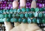 CAA1594 15.5 inches 12mm round banded agate beads wholesale