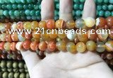 CAA1609 15.5 inches 6mm round banded agate beads wholesale