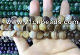 CAA1617 15.5 inches 10mm round banded agate beads wholesale