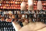 CAA1621 15.5 inches 6mm round banded agate beads wholesale