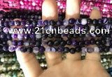 CAA1650 15.5 inches 6mm faceted round banded agate beads