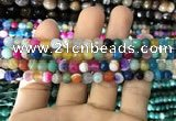 CAA1680 15.5 inches 6mm faceted round banded agate beads