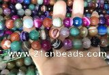 CAA1683 15.5 inches 12mm faceted round banded agate beads