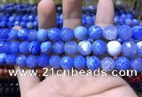 CAA1739 15 inches 10mm faceted round fire crackle agate beads