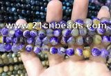 CAA1768 15 inches 8mm faceted round fire crackle agate beads