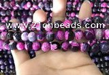 CAA1778 15 inches 10mm faceted round fire crackle agate beads