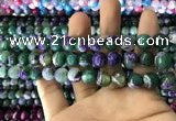 CAA1785 15 inches 10mm faceted round fire crackle agate beads