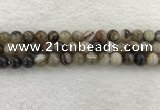 CAA1813 15.5 inches 10mm round banded agate gemstone beads