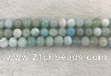 CAA1844 15.5 inches 12mm round banded agate gemstone beads