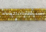 CAA1851 15.5 inches 6mm round banded agate gemstone beads