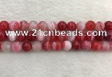 CAA1894 15.5 inches 12mm round banded agate gemstone beads