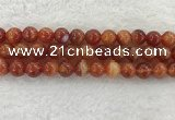 CAA1905 15.5 inches 14mm round banded agate gemstone beads