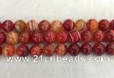 CAA1916 15.5 inches 16mm round banded agate gemstone beads