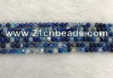 CAA1930 15.5 inches 4mm round banded agate gemstone beads