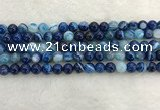 CAA1931 15.5 inches 6mm round banded agate gemstone beads