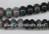 CAA194 15.5 inches 8*12mm rondelle indian agate beads wholesale