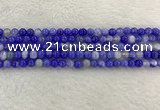 CAA1940 15.5 inches 4mm round banded agate gemstone beads