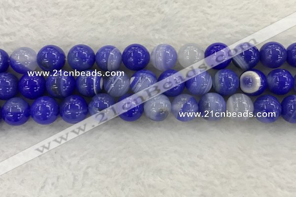 CAA1946 15.5 inches 16mm round banded agate gemstone beads