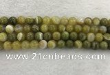CAA1953 15.5 inches 10mm round banded agate gemstone beads