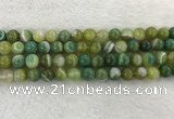 CAA1973 15.5 inches 10mm round banded agate gemstone beads