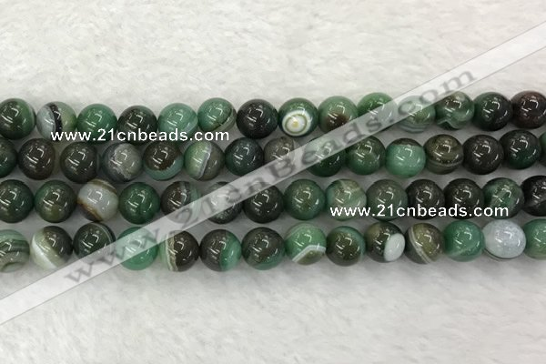 CAA1993 15.5 inches 10mm round banded agate gemstone beads