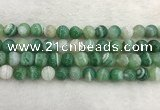 CAA2004 15.5 inches 12mm round banded agate gemstone beads