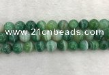 CAA2005 15.5 inches 14mm round banded agate gemstone beads
